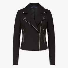 ALANA LIGHT CROPPED BIKER JACKET