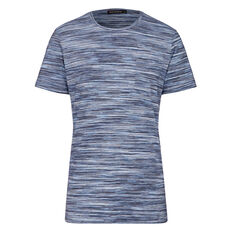 SHADES OF BLUE CREW NECK T-SHIRT