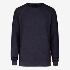 COLLEGE WAFFLE CREW NECK KNIT