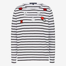 BADGE IT STRIPE TEE