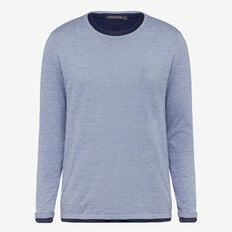 DOUBLE LAYER CREW NECK KNIT