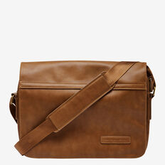 METRO LEATHER LOOK MESSENGER BAG