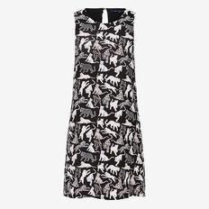 LEOPARD CAT SHIFT DRESS