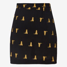 CHEETAH CROSS FRONT SKIRT