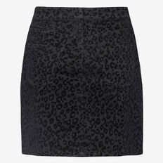 ANIMAL FLOCK MINI SKIRT