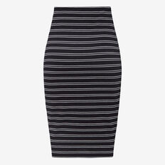 STRIPE  IT UP BODYCON SKIRT