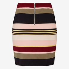 BLOOM STRIPE RIB SKIRT