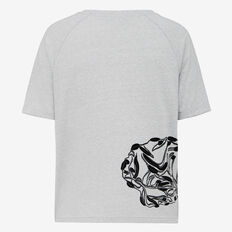 FLOCKED LEOPARD TEE