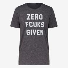 ZERO FCUKS CREW NECK T-SHIRT