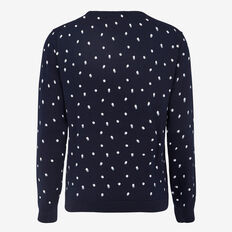 SHADOW SPOT CREW NECK KNIT