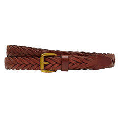 SLIM LEATHER PLAITED BELT