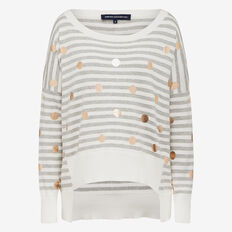 STRIPE SPOT NOVELTY KNIT