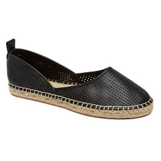 PERFORATED LEATHER ESPADRILLE