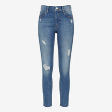 FRAY HEM DISTRESSED JEAN