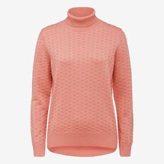 DOBBY ROLL NECK KNIT