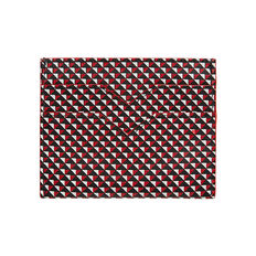 GEOMETRIC PRINT LEATHER CARDHOLDER