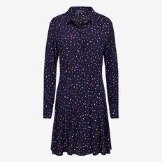 RAINBOW SNOW SHIRT DRESS