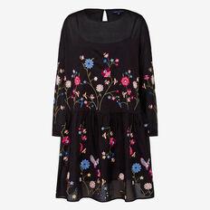 WINTER BLOOM BABYDOLL DRESS