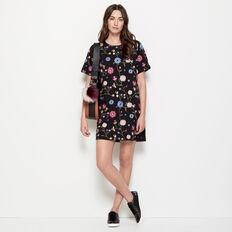 WINTER BLOOM SHIFT DRESS