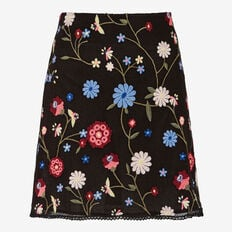 WINTER BLOOM EMBROIDERED SKIRT