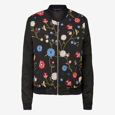WINTER BLOOM BOMBER JACKET