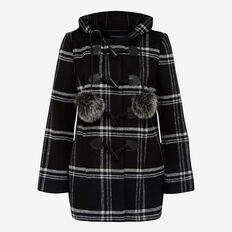 WOODLANDS CHECK DUFFLE COAT