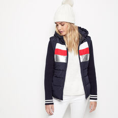 RETRO KNIT SLEEVE PUFFER JACKET