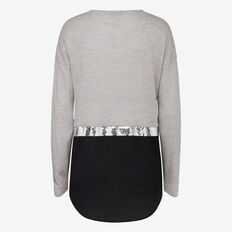 SEQUIN PANEL KNIT