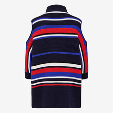 APRES STRIPE CUT OUT SHOULDER KNIT