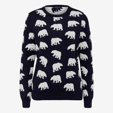 SKETCH POLAR BEAR INTARZIA KNIT