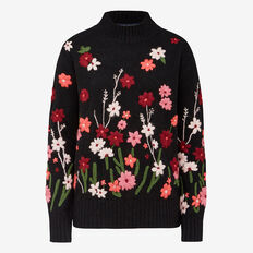 FLORAL EMBROIDERED KNIT