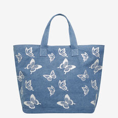 BUTTERFLY PRINT TOTE