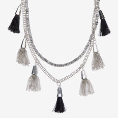 MULIT LAYER TASSEL NECKLACE
