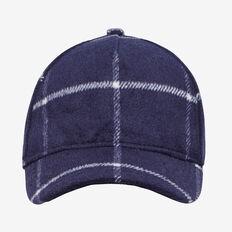 WOOL BLEND CHECK CAP