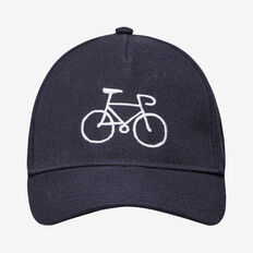 EMBROIDERED BICYCLE CAP