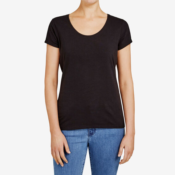 HAYLEY STRETCH SCOOP NECK TEE