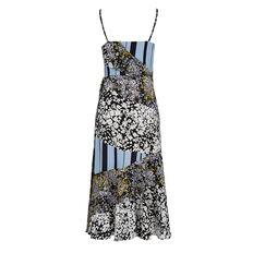 FREIDA FLOWER DRAPE DRESS  UTILITY BLUE MULTI  hi-res