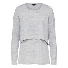 DOLLY DOUBLE LAYERED L/S TEE  GREY MARLE  hi-res