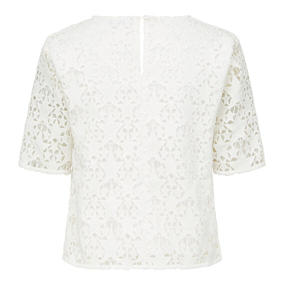 STAR LACE TEE  SUMMER WHITE  hi-res