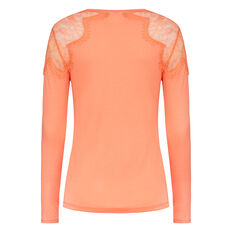 FAST JULIETTE LACE TEE  SUGAR CORAL  hi-res