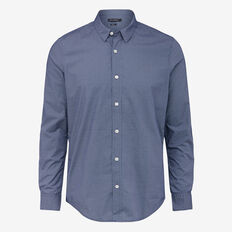 SKY PRINTED SLIM FIT SHIRT  SKY BLUE  hi-res