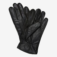 GENUINE LEATHER GLOVES  BLACK  hi-res