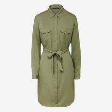 KEEP ME SIMPLE SHIRT DRESS  KHAKI  hi-res