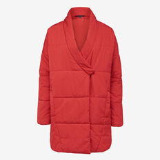 APRES OVERSIZED PUFFER JACKET  BRIGHT RED  hi-res