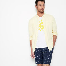SUMMER LIGHTWEIGHT OXFORD SHIRT  SOFT YELLOW  hi-res