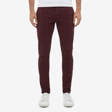 SLIM FIT STRETCH CHINO PANT  PLUM  hi-res