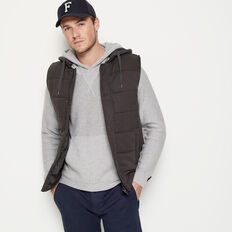 SHOREDITCH PUFFER VEST  SMOKE  hi-res