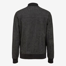 LEATHER LOOK BOMBER  BLACK  hi-res