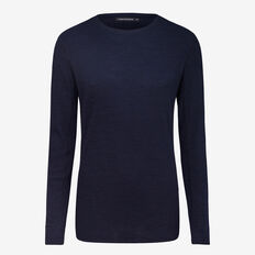 TEXTURED LONG SLEEVE T-SHIRT  MIDNIGHT  hi-res