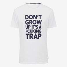 DON'T GROW UP CREW NECK T-SHIRT  WHITE  hi-res